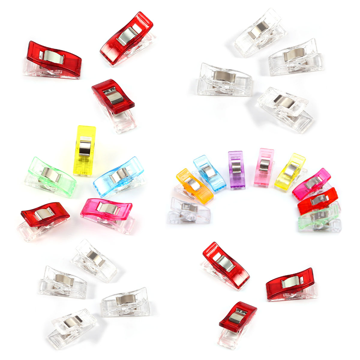36pcs Plastic Quilter Holding Wonder Clips Clamps Sewing Craft Quilt Binding UK