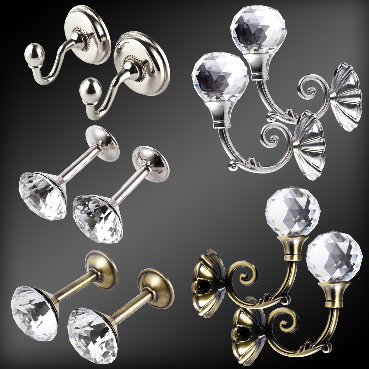 2pcs ganchos metal para alzapa os de cortina dise o for Ganchos de metal para cortinas