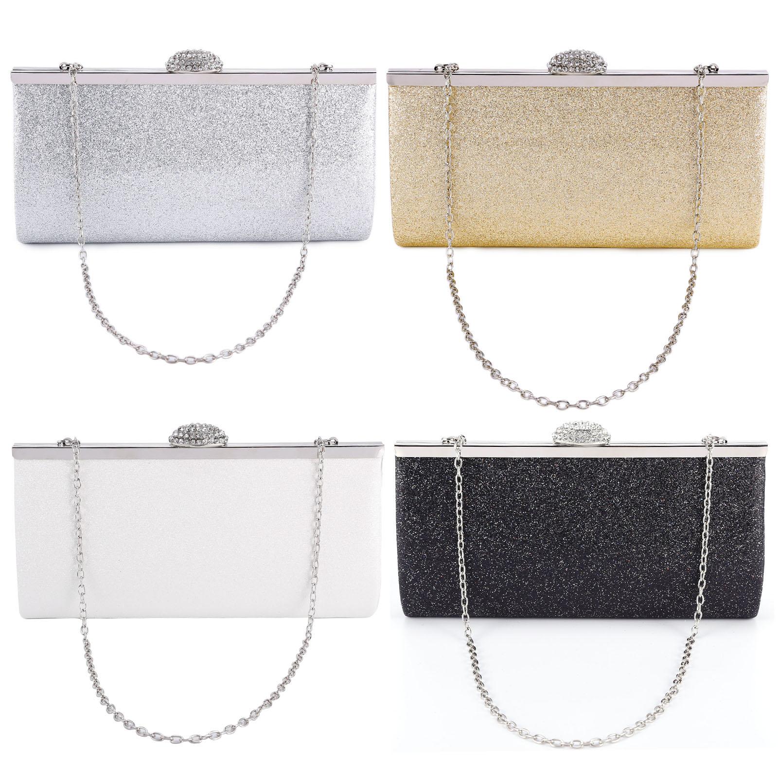 d7a1ff427f Details about Ladies Evening Bag Clutch Purse Bridal Prom Party Rhinestone  Bag Bride Handbag