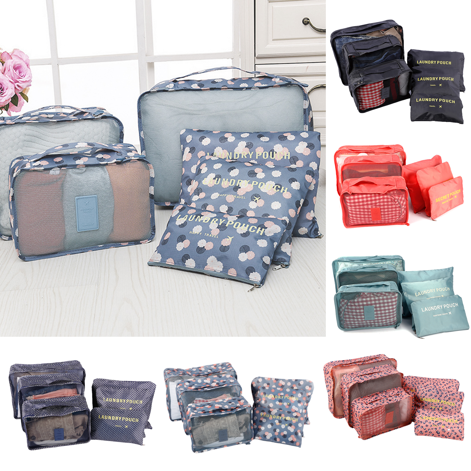 Unisex Water Resistant Travel Storage Bags Organizer For Clothe Shoes Underwear