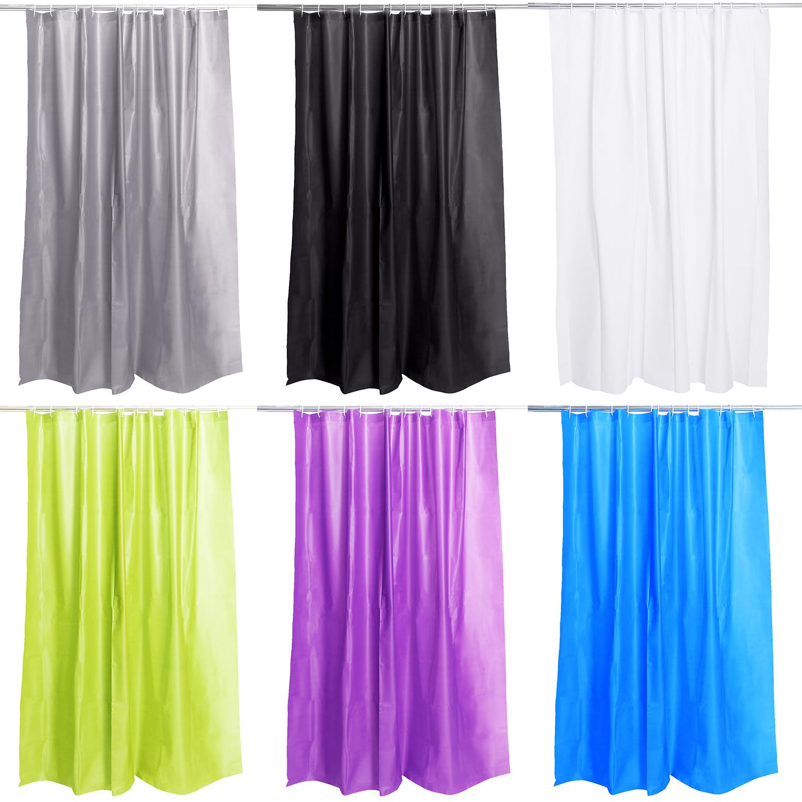 badevorhang wannenvorhang dusche vorhang peva waschbar duschvorhang 12 ringe ebay. Black Bedroom Furniture Sets. Home Design Ideas