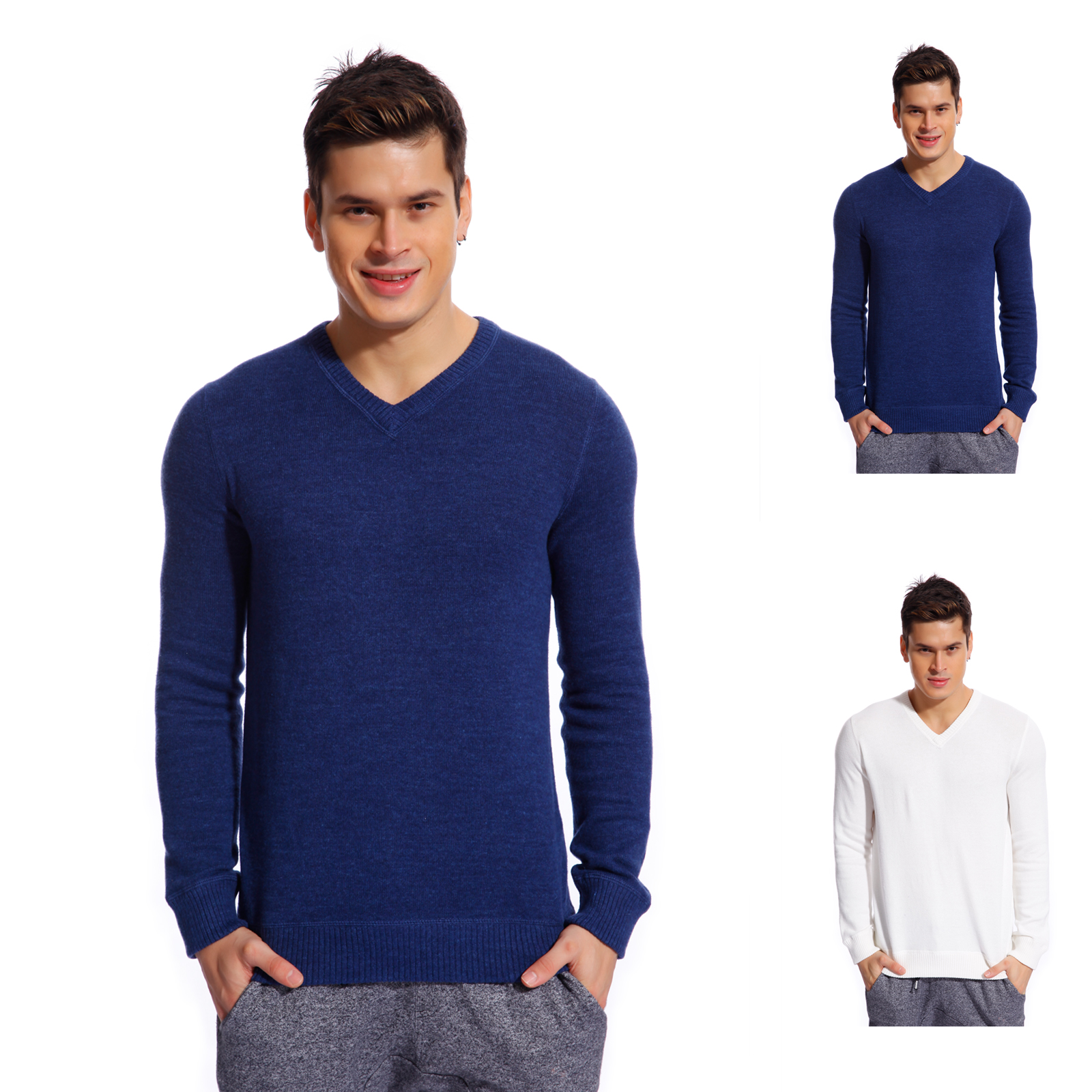 Copperside Mens 100% Cotton V-Neck Sweater | eBay