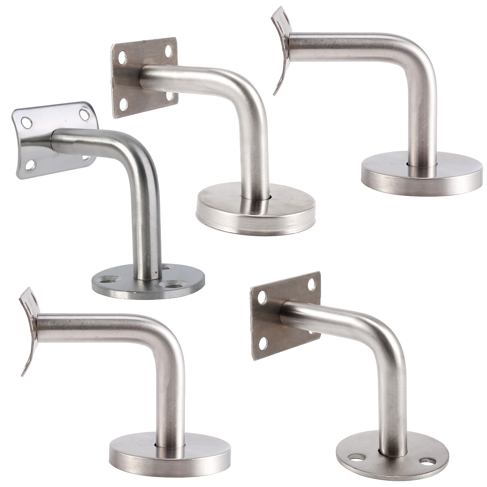 5x Stainless Steel Stair Handrail Guard Rail Mount