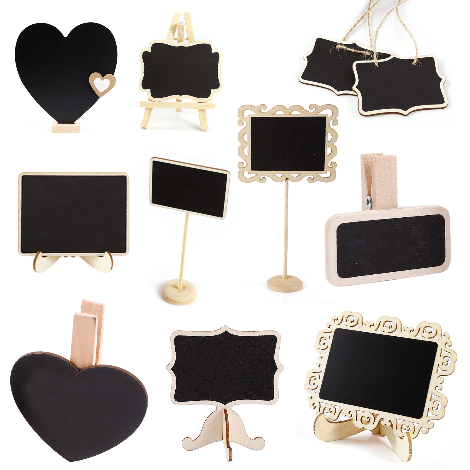 Vintage Wooden Hanging Mini Blackboard Signs Kitchen Message Memo ...