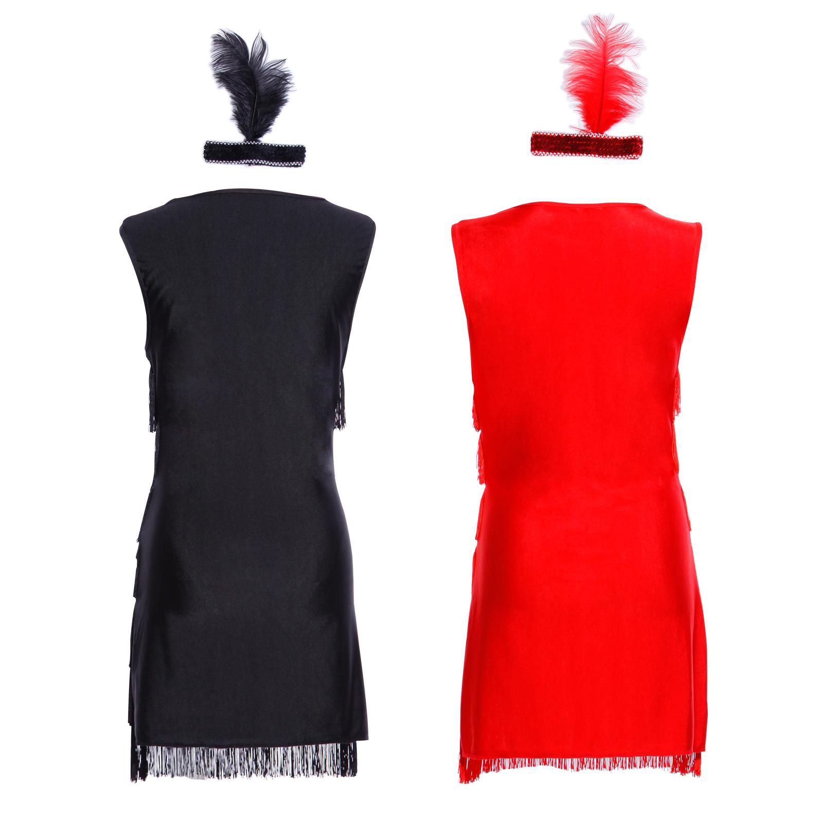 1920 20er Jahre Charleston Kostüm Kleid Flapper Fransen