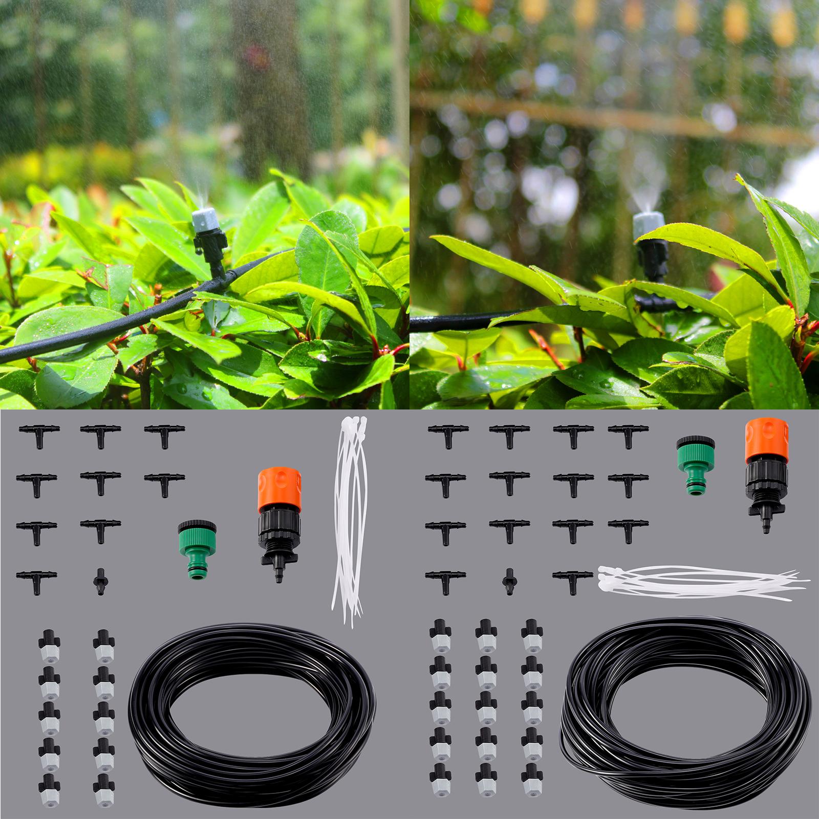 micro drip irrigation system plant self watering garden hose kit