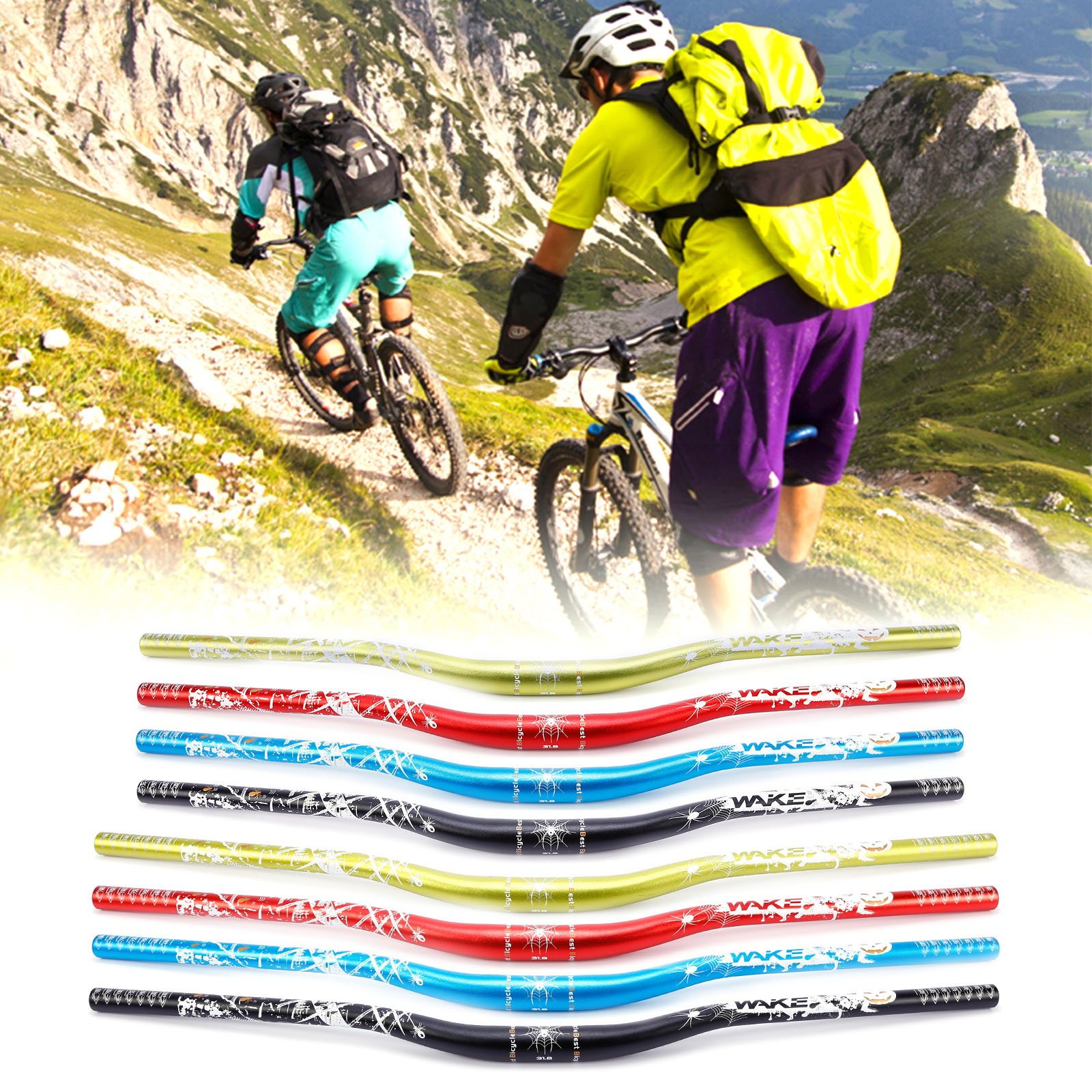 Alloy 31.8mm 780mm Bike Handlebar MTB Bicycle Cycling XC DH Downhill Racing