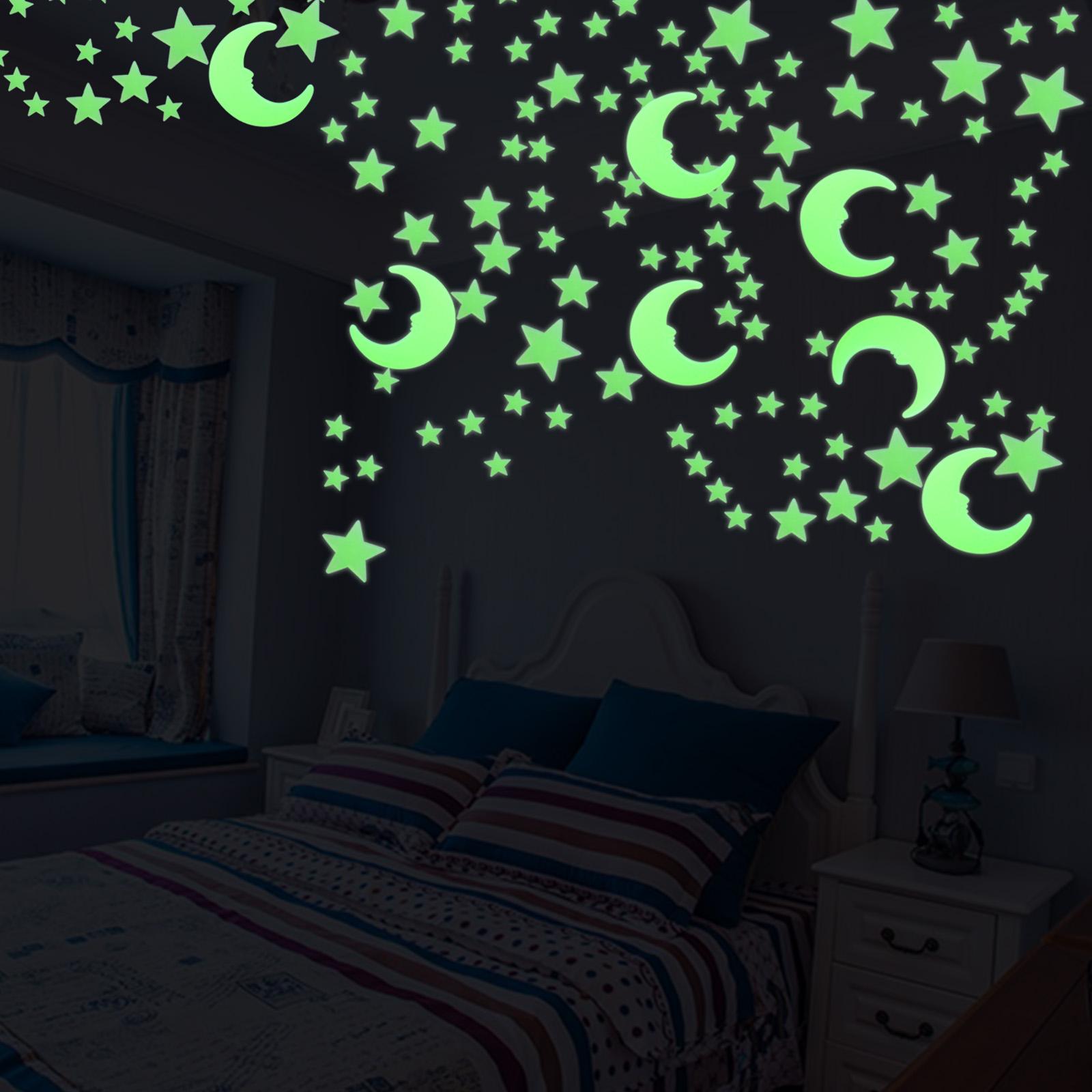 Glow In The Dark Stars Multi Pack Wall Stickers Kids