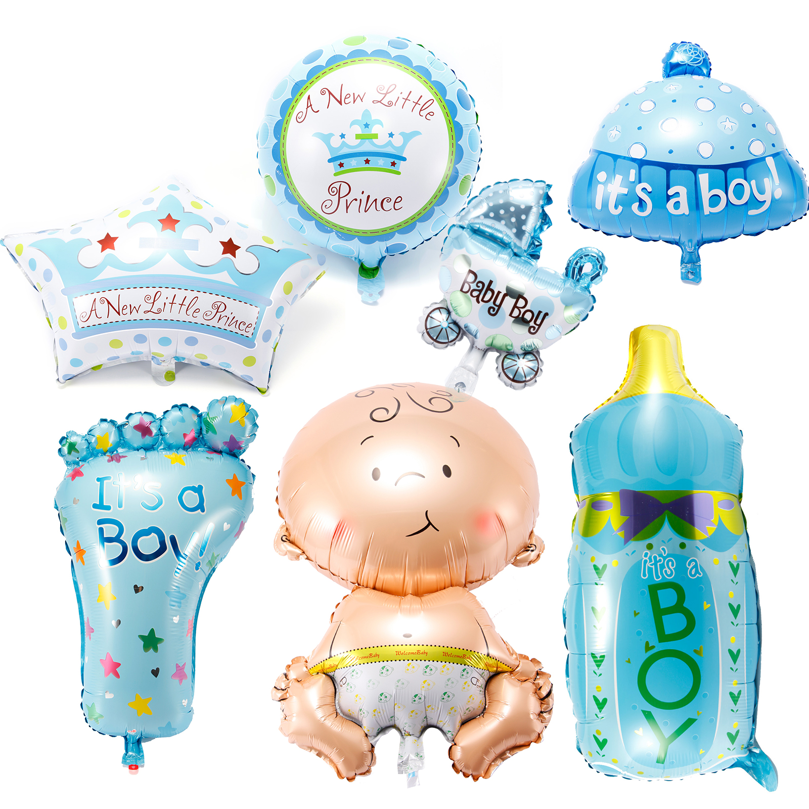 Helium Balloons Baby Shower: Boy Girl Foil Helium Balloon For Newborn Baby Shower