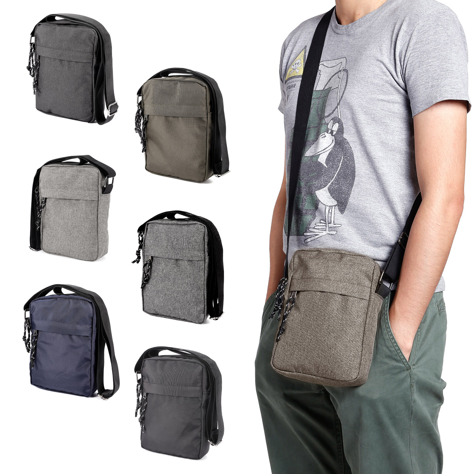 90b43b4db863 Mens Travel Messenger Bag Shoulder Bag Crossbody Handbag Small Bag Briefcase