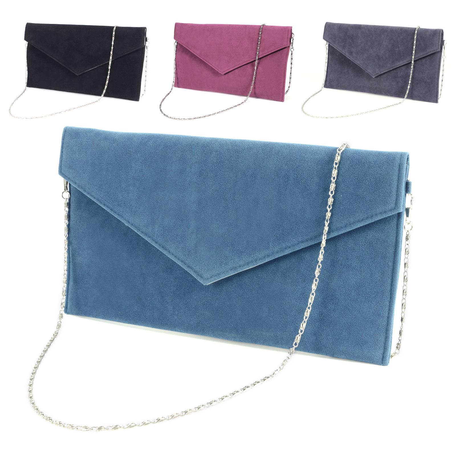 Details about Large Faux Suede Envelope Clutch W  Wrist Strap Women Hand  Carry Daily Bag Purse 9beb937eeb47d