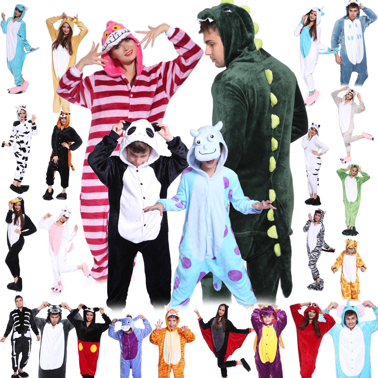 Boy Girl Unisex Adult Animal Fancy Dress Kigurumi Pyjamas Sleepwear Xmas