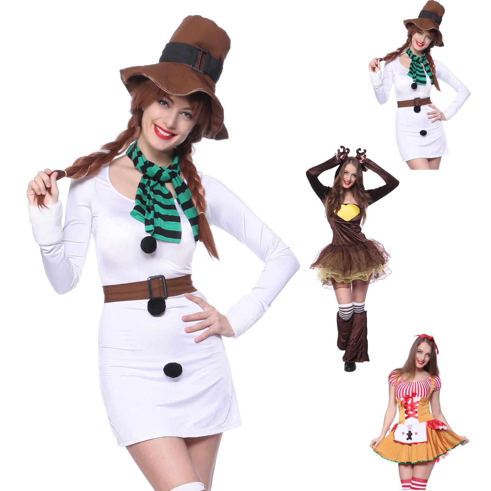 costume deguisement bonhomme cerf serveuse noel carnaval halloween femme fille ebay. Black Bedroom Furniture Sets. Home Design Ideas