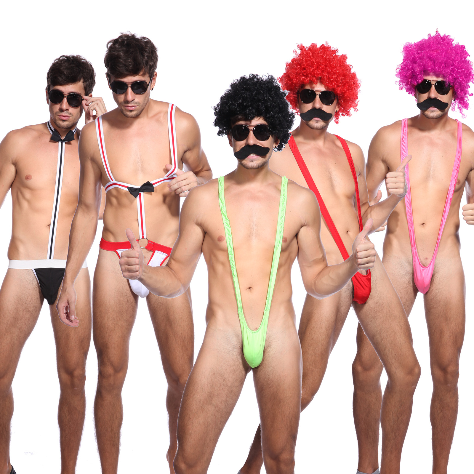 3a4e531d074fb Sexy Borat Mankini Costume Swimsuit Mens Swimwear Thong Beach Stags Hens  Bucks