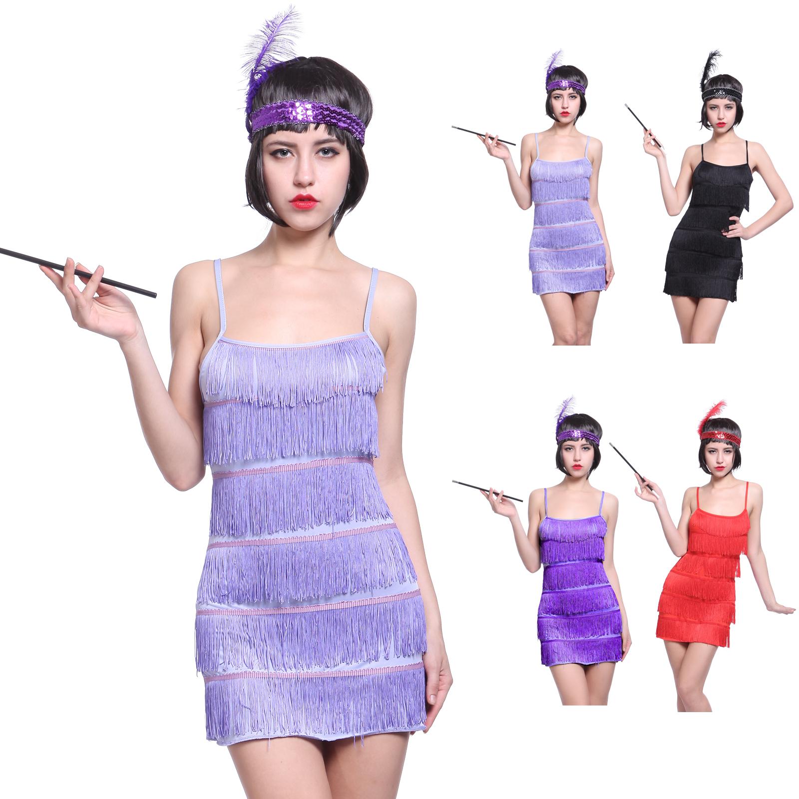 20er 30er Jahre Retro Damen Partykleid Charleston Kostüm ...