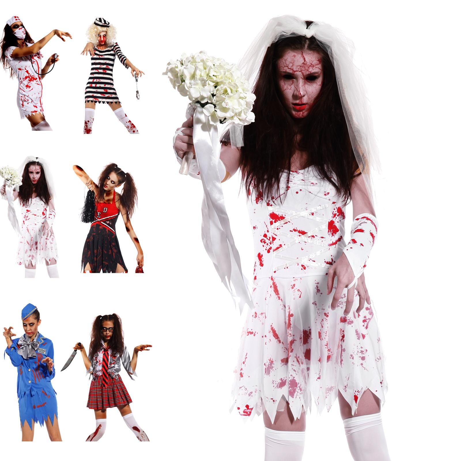 Scary ladies bloody zombie costume walking dead cosplay halloween scary ladies bloody zombie costume walking dead cosplay halloween fancy dress solutioingenieria Choice Image