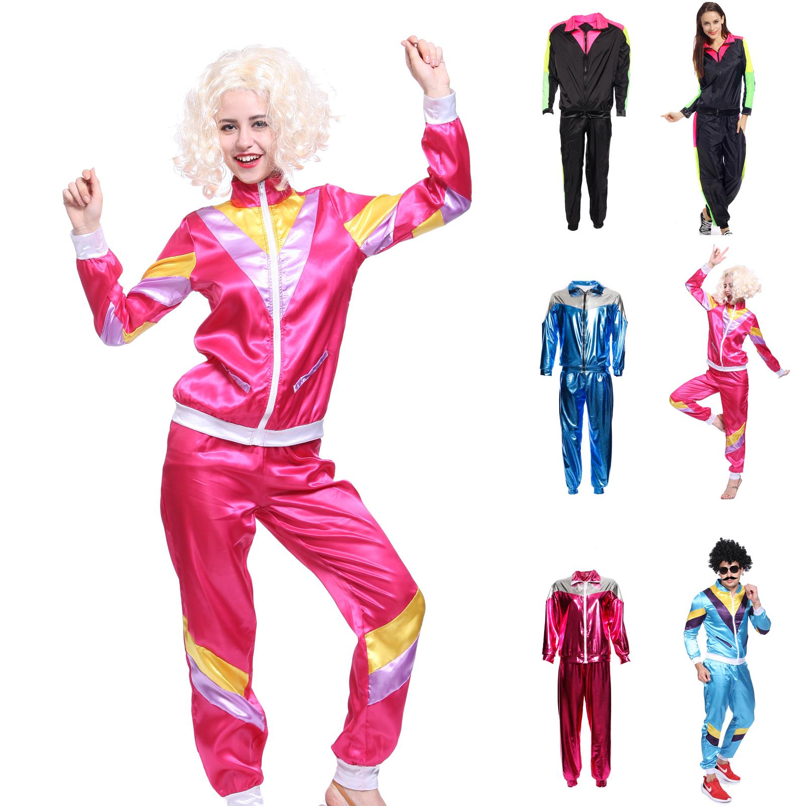 89e2e64399 Details about 80s 80's Mens Womens Shell Suit Scouse Tracksuit Costume  Scouser Fancy Suit