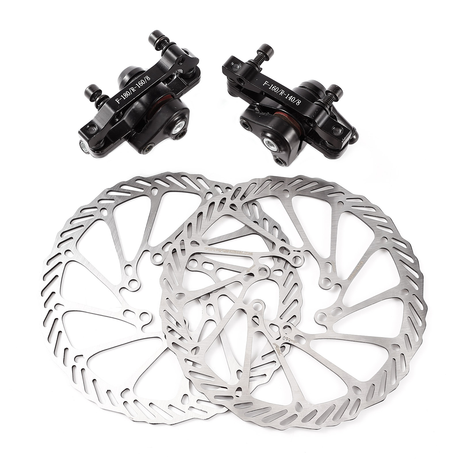 Bike Bicycle Front /& Rear Brake Mechanical /& Brake Cable With 160mm Rotors Metal