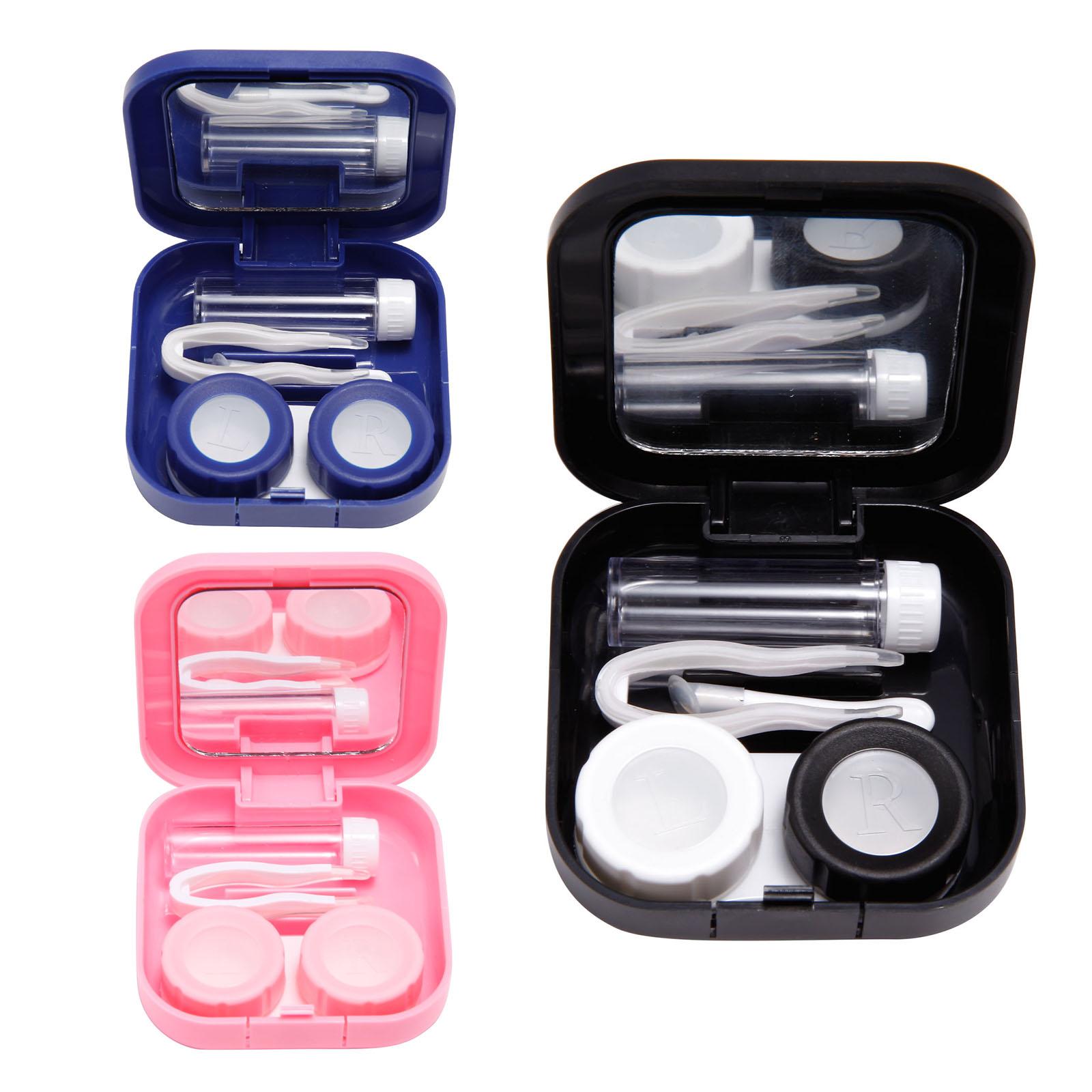 Juego port til de estuche caja para lentillas lente de - Estuche para lentillas ...