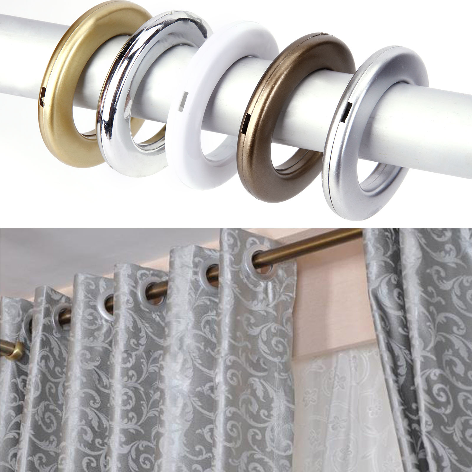 20 40 x stoff sen kunststoff sen durchmesser for Accesorios para colgar cortinas