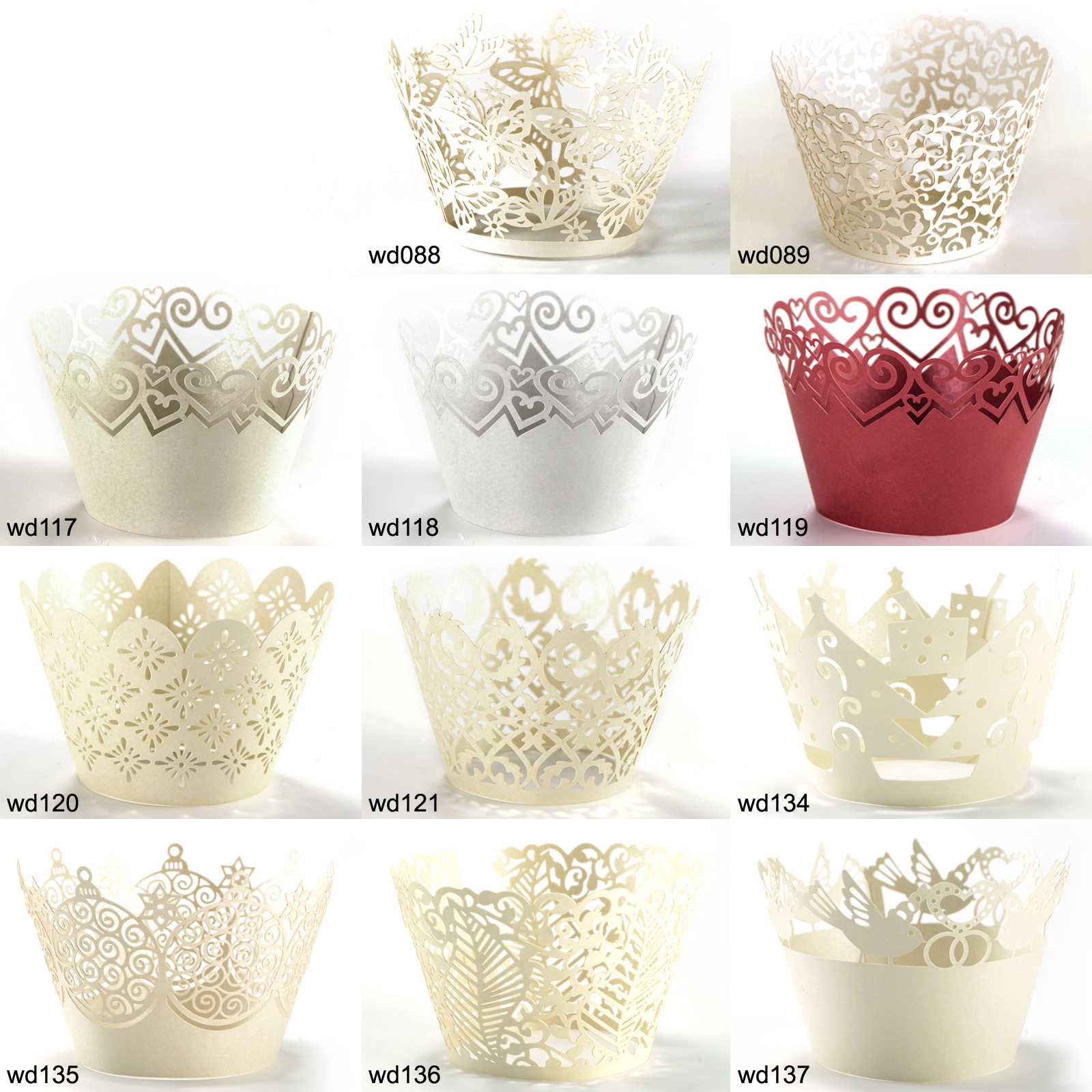 25pcs Cupcake Wrappers Wrap Cases for Wedding Birthday Anniversary Baby Shower