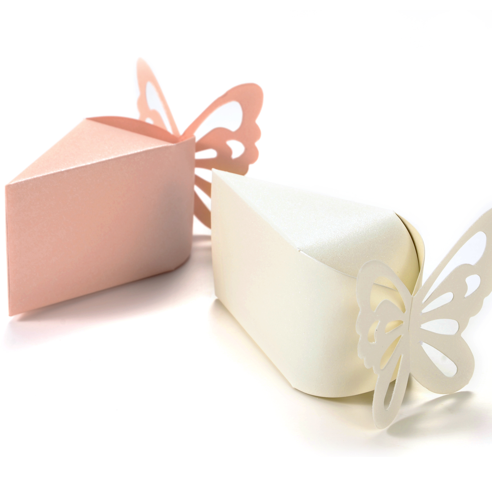 50 x Butterfly Candy Boxes Gift Favors Cake Style for Wedding Party ...