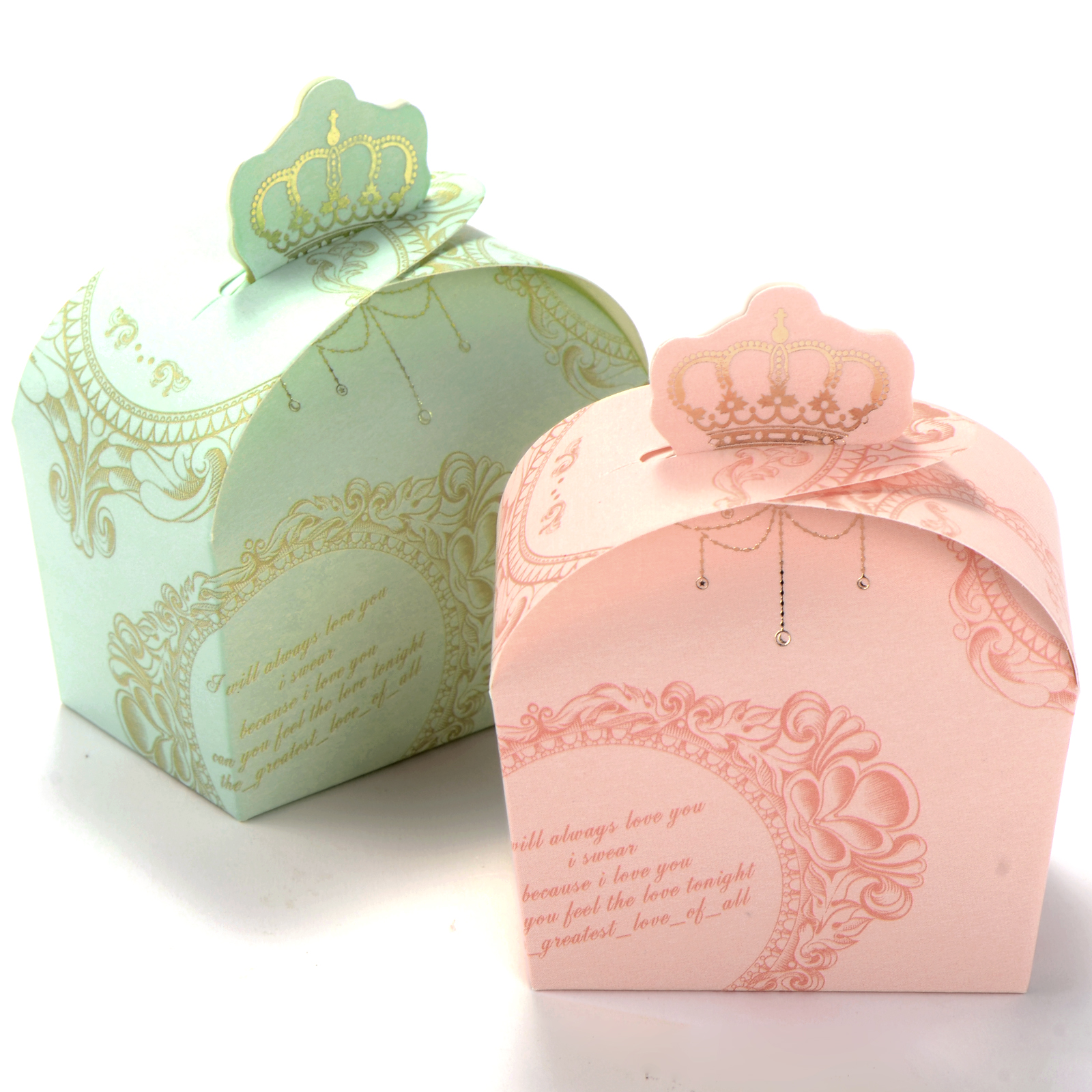 50x Wedding Favor Candy Box Royal Crown Design Baby Shower Gift