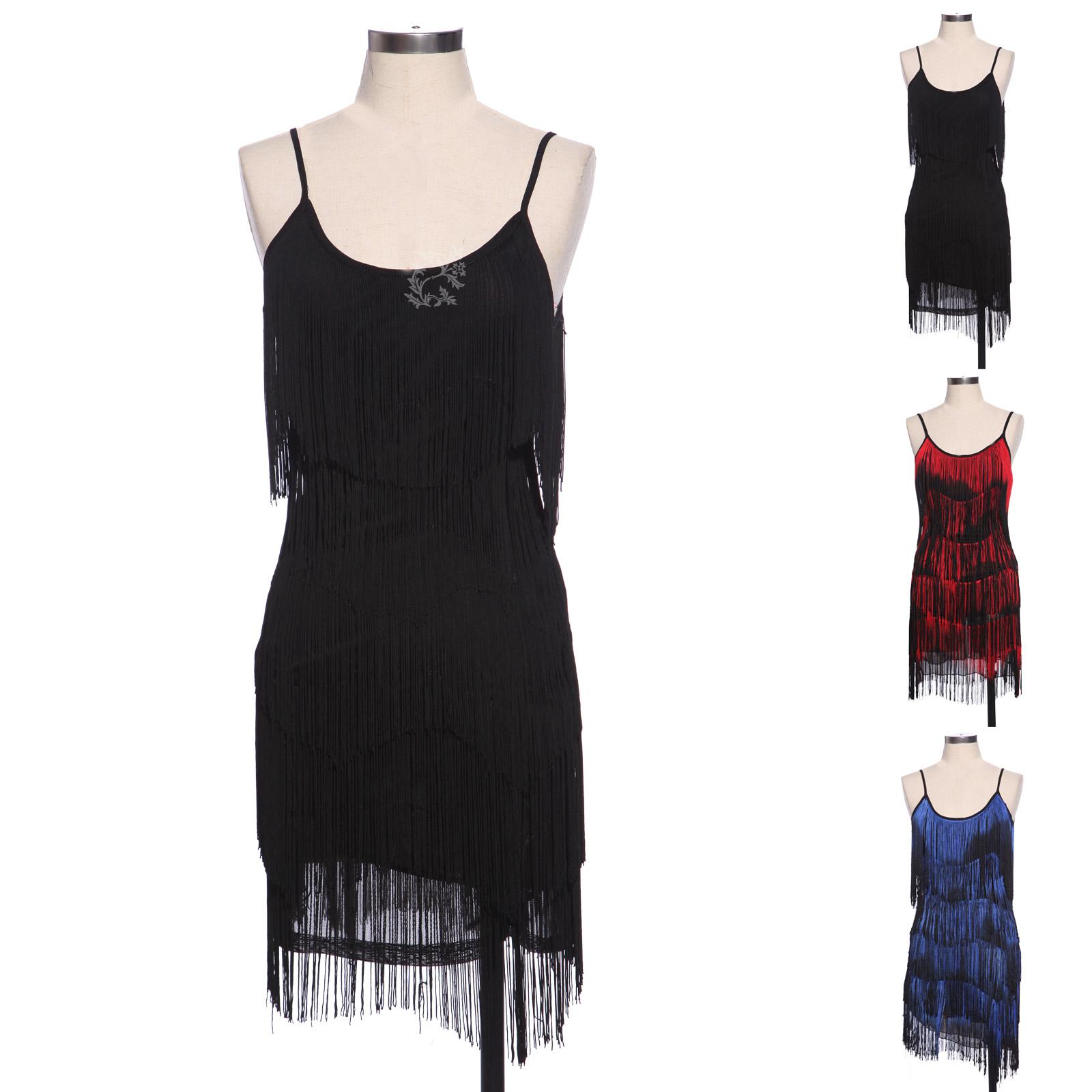 20s Vintage Slip Dress Fringe Flapper Gatsby Evening Dress Cocktail ...