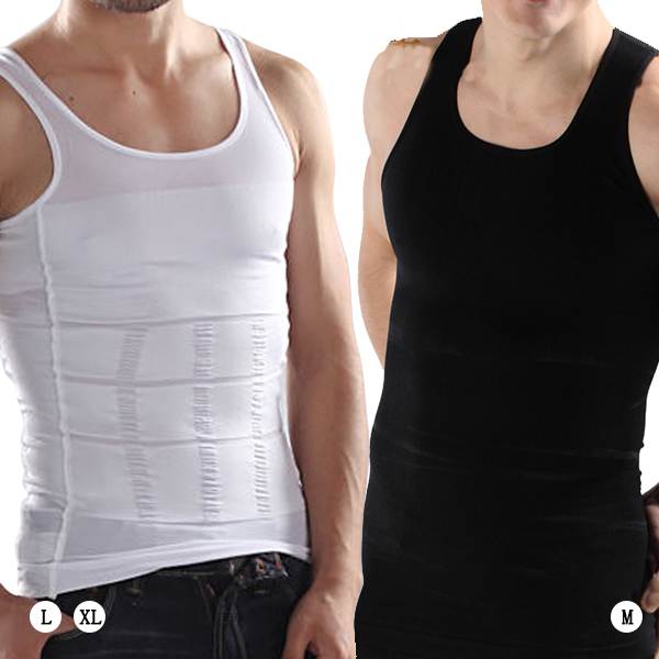 c082564358 Details about Mens Slimming Vest Body Shaper Compression Waist Tummy  Control Underwear Shirt