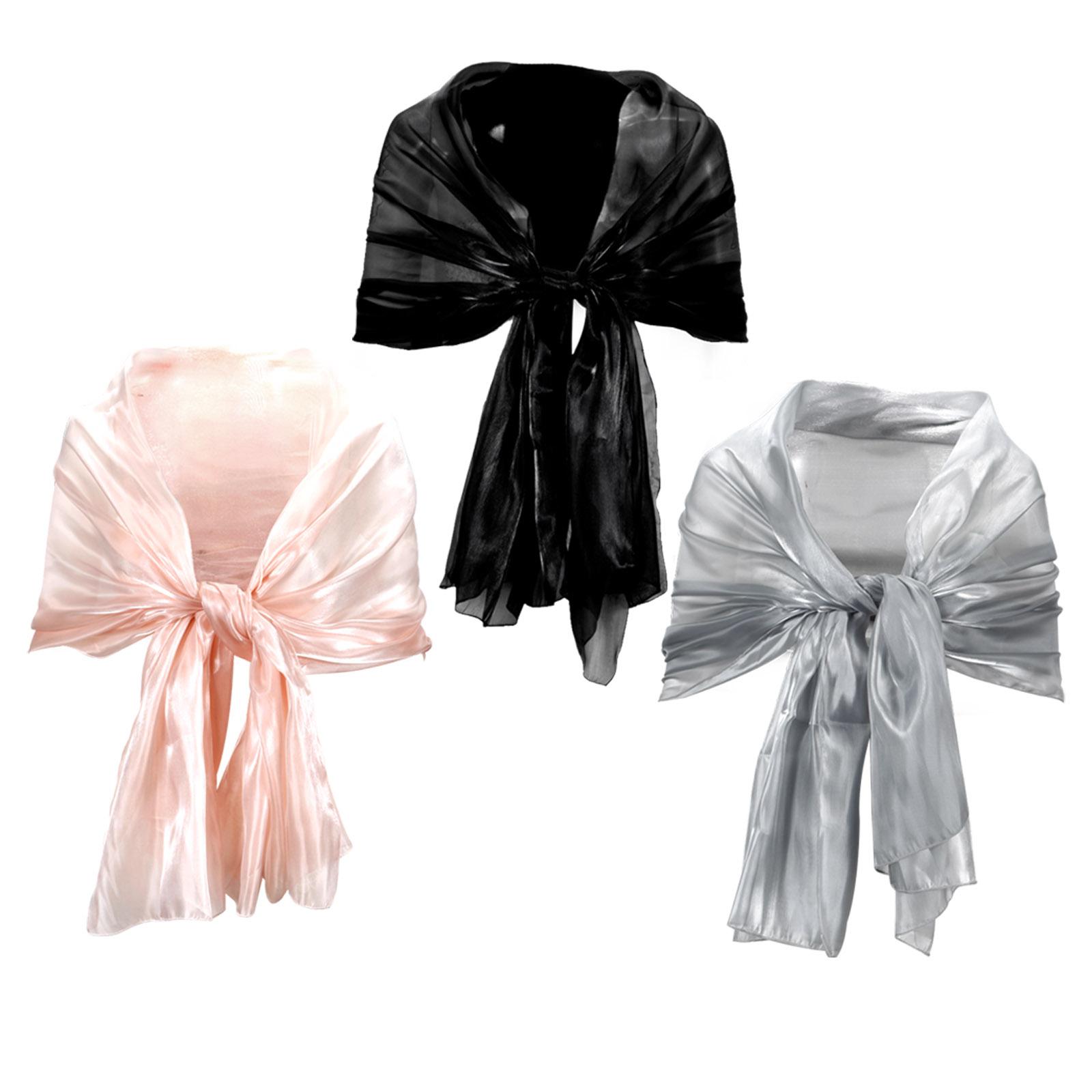 stola berwurf abendkleid chiffon schal pink schwarz grau. Black Bedroom Furniture Sets. Home Design Ideas