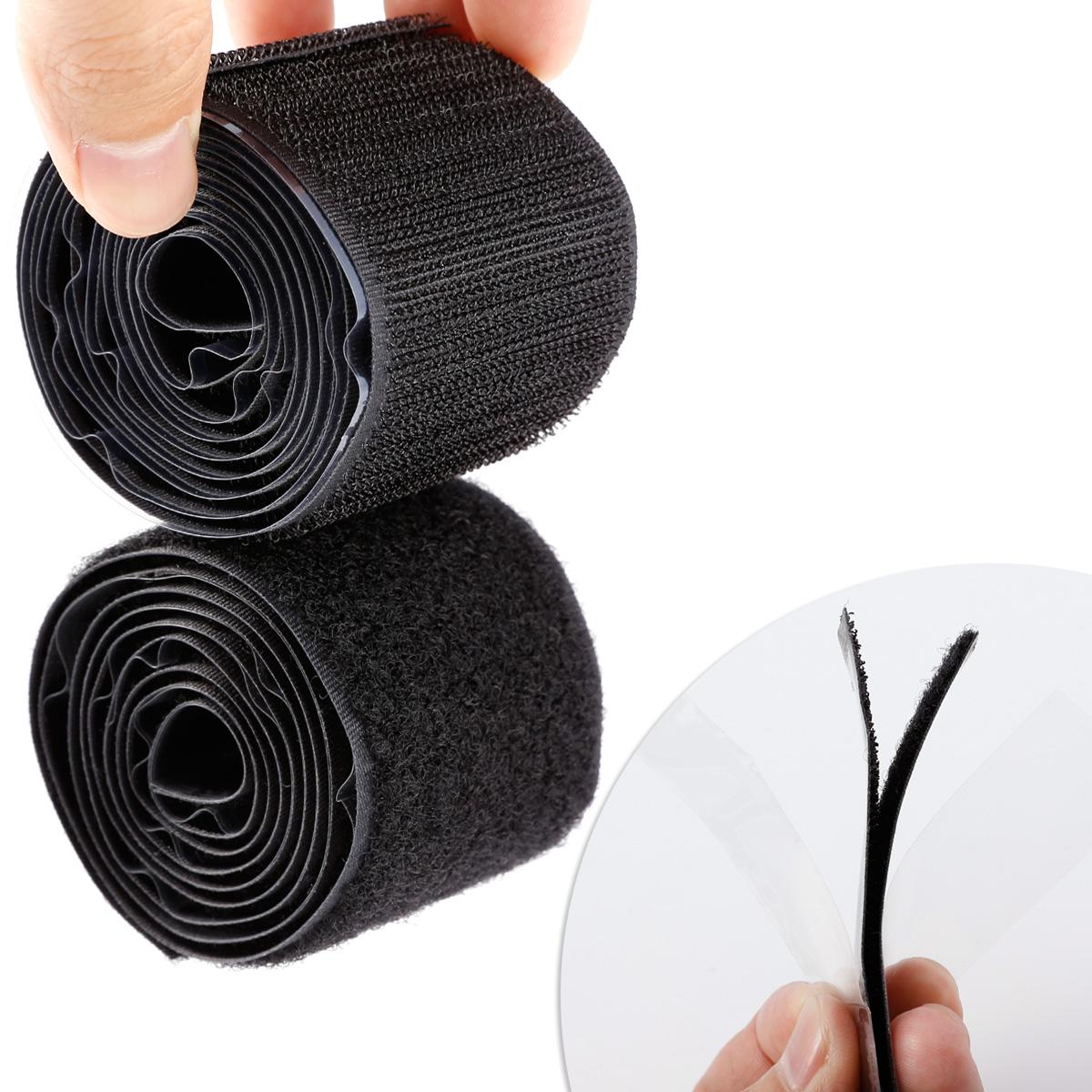 1m schwarz klettband klettverschluss 50mm breit haken und flausch zum ann hen ebay. Black Bedroom Furniture Sets. Home Design Ideas