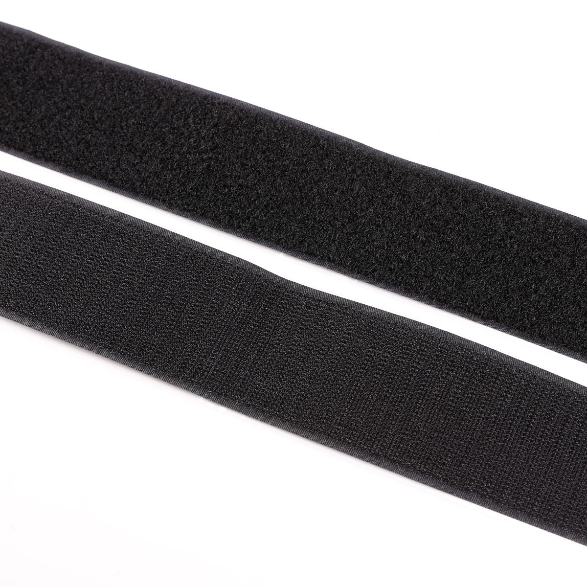 1m klettband haken flausch klettverschluss breite 50mm selbstklebend schwarz ebay. Black Bedroom Furniture Sets. Home Design Ideas