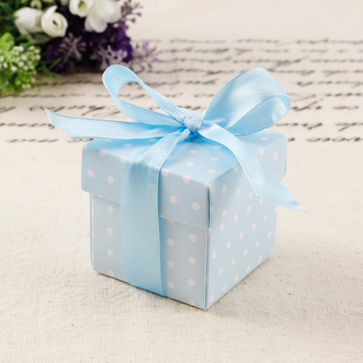 50x Polka Dots Spot Wedding Favor Baby Shower Cake Gift Candy Boxes