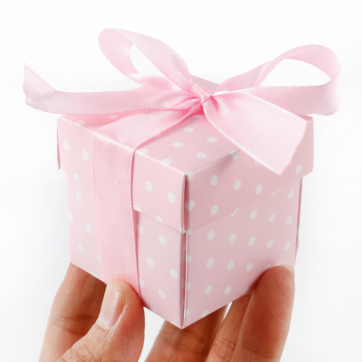50x Polka Dots Spot Wedding Favor Baby shower Cake Gift Candy Boxes ...