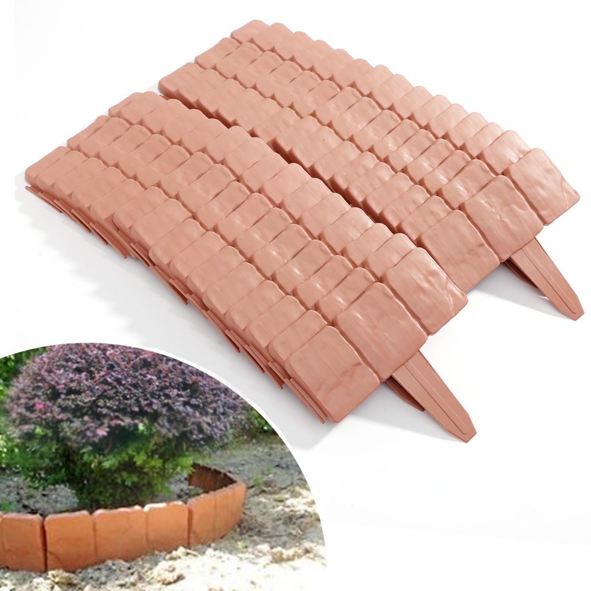30pcs 7 8m mini valla piedra para c sped jard n ribete for Valla plastico jardin