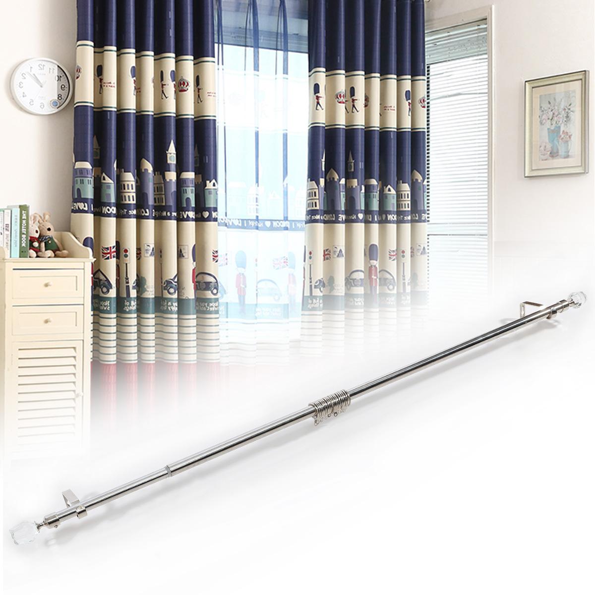 crystal finials extendable adjustable metal curtain pole. Black Bedroom Furniture Sets. Home Design Ideas
