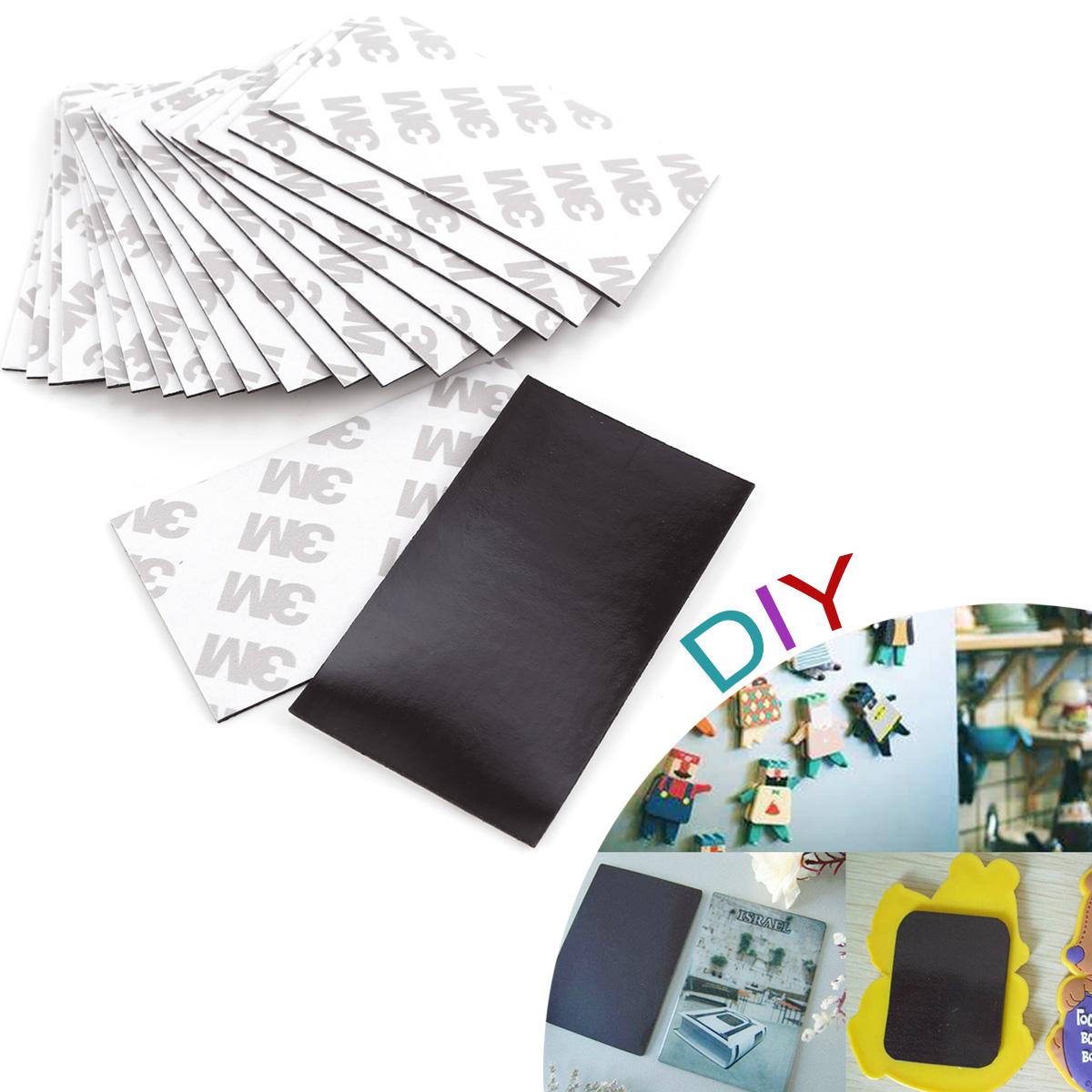 20x feuille magn tique en caoutchouc aimant flexible auto adh sif 89x51x0 85mm ebay. Black Bedroom Furniture Sets. Home Design Ideas