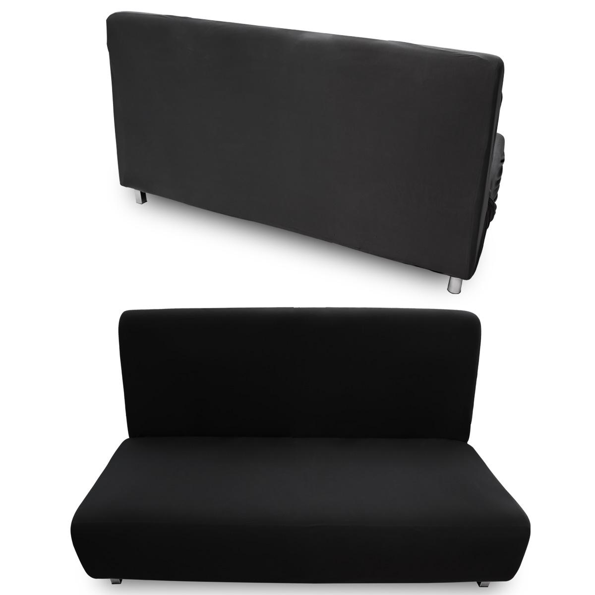 Housse de canap velout lastique extensible sofa cover - Housse canape noir ...