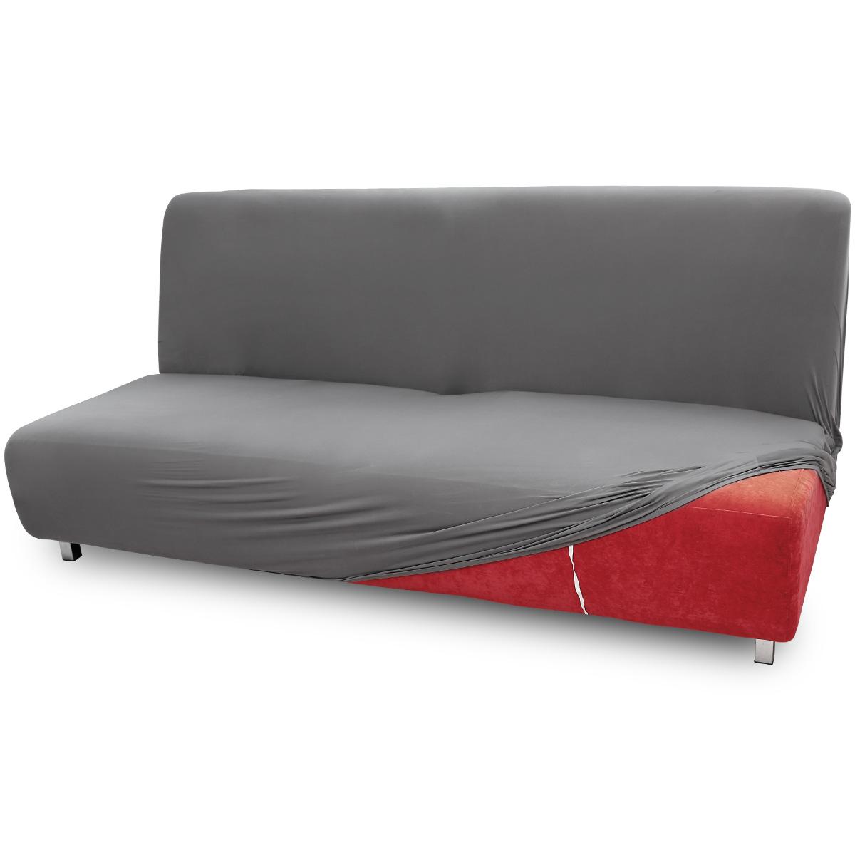 Fundas para sof s cama clic clac funda ajustable 1 2 3 for Sofa cama color gris