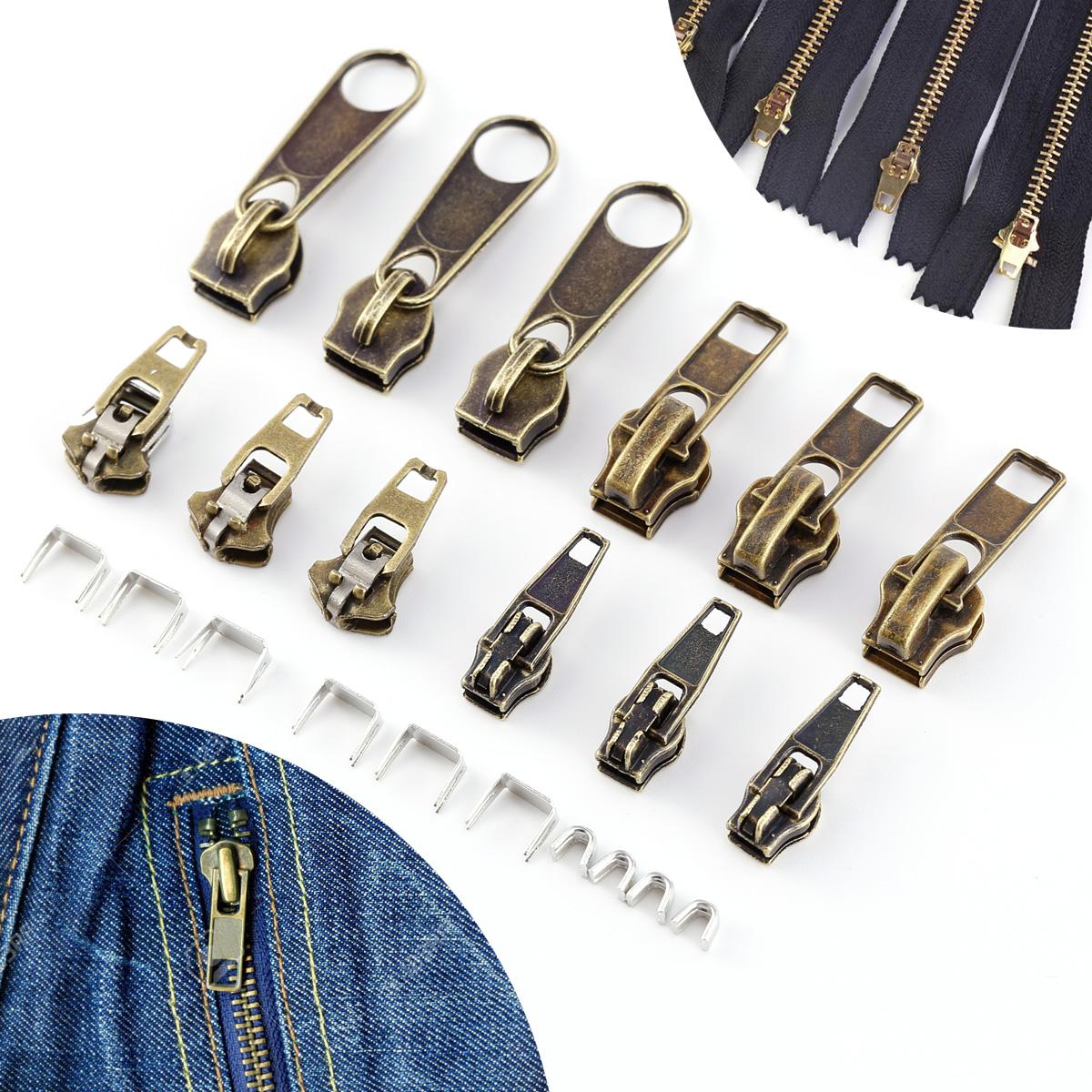 22pcs remplacement r paration fermeture clair bronze zip. Black Bedroom Furniture Sets. Home Design Ideas