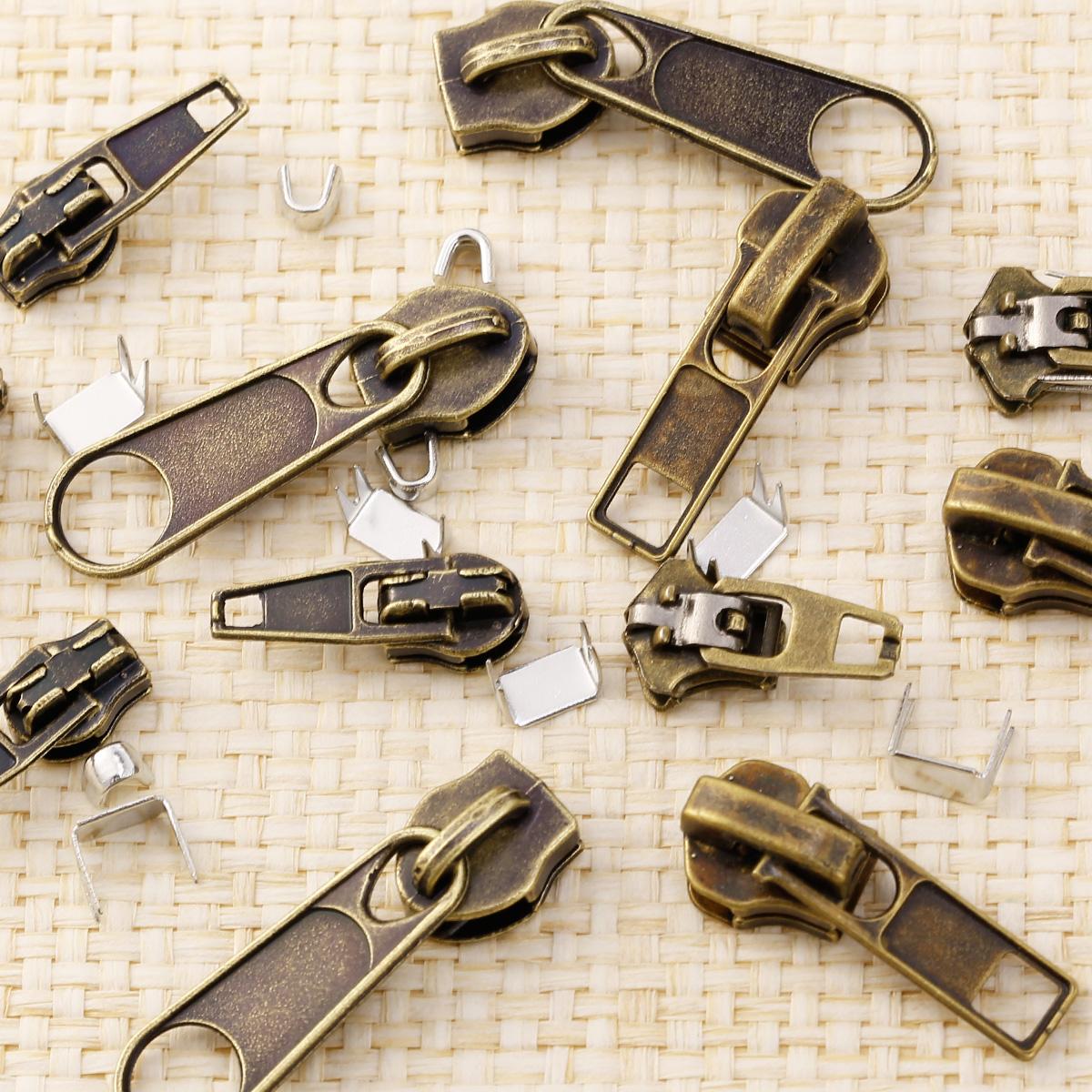 22pcs universal zipper fix zip slider rescue instant repair kit replacement ebay. Black Bedroom Furniture Sets. Home Design Ideas