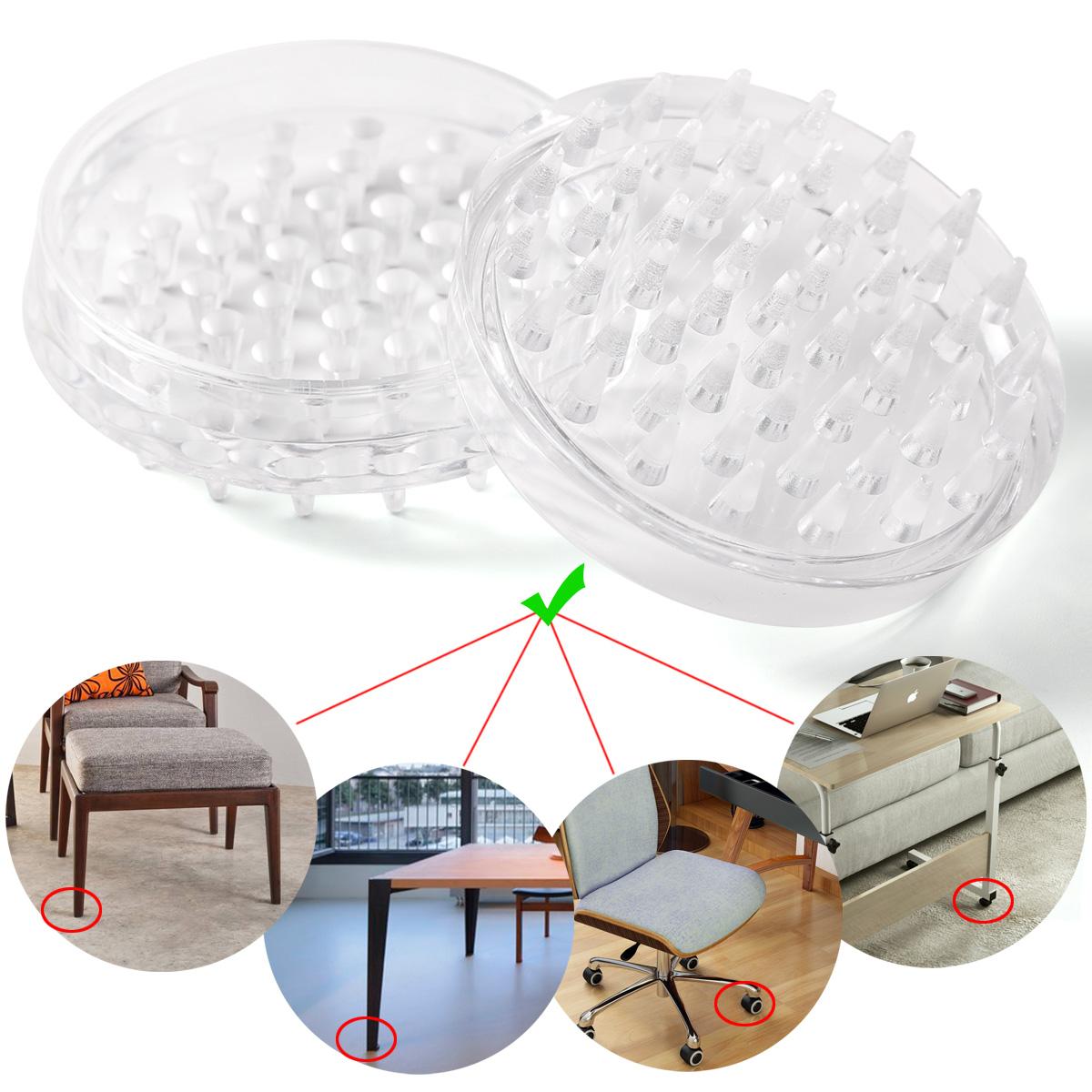 Protector De Suelo De Plástico Transparente ∅50mm Para Patas Sillas Mesas  Mueble