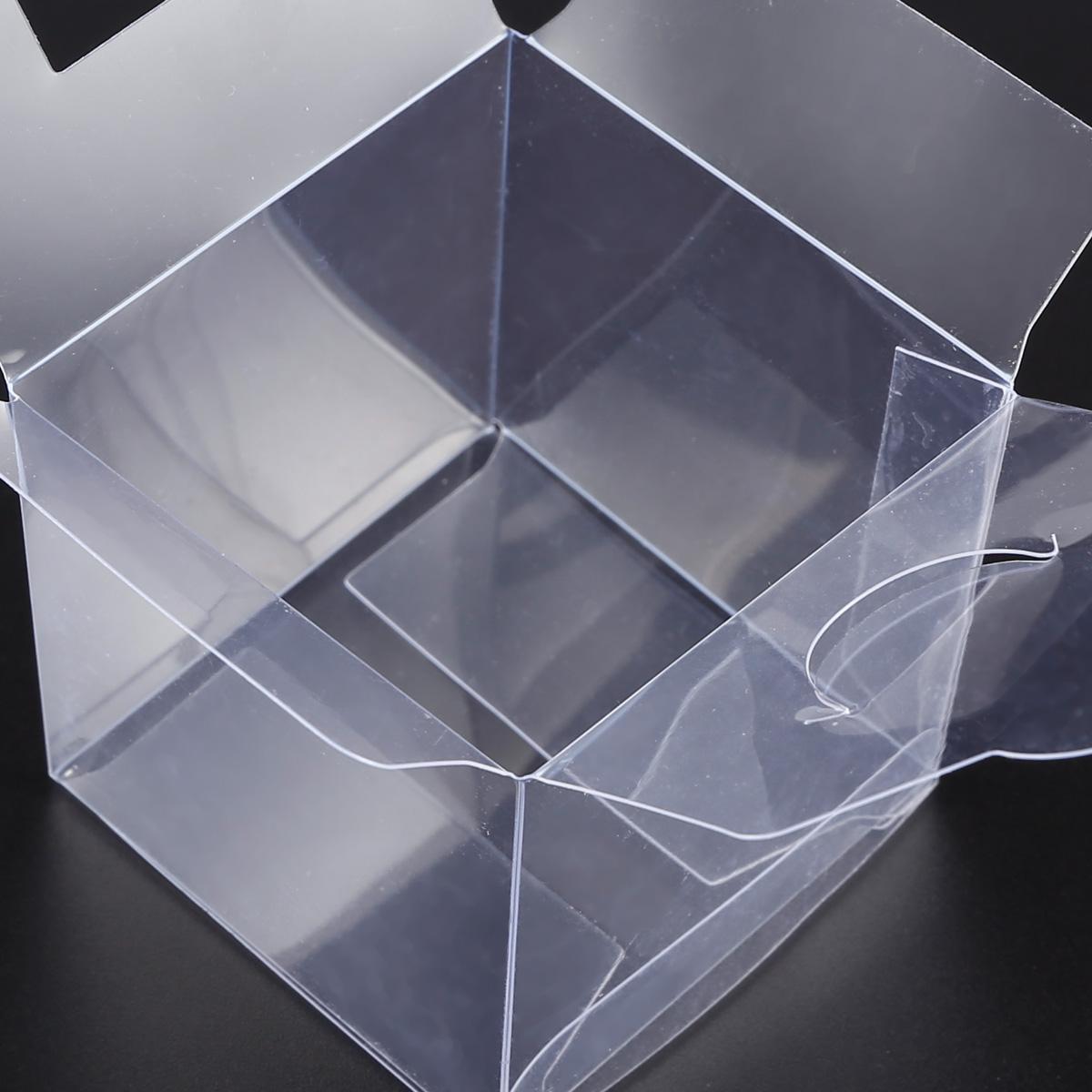 50 100pcs cajita cuadrada transparente pl stico caja de for Cajas de plastico transparente
