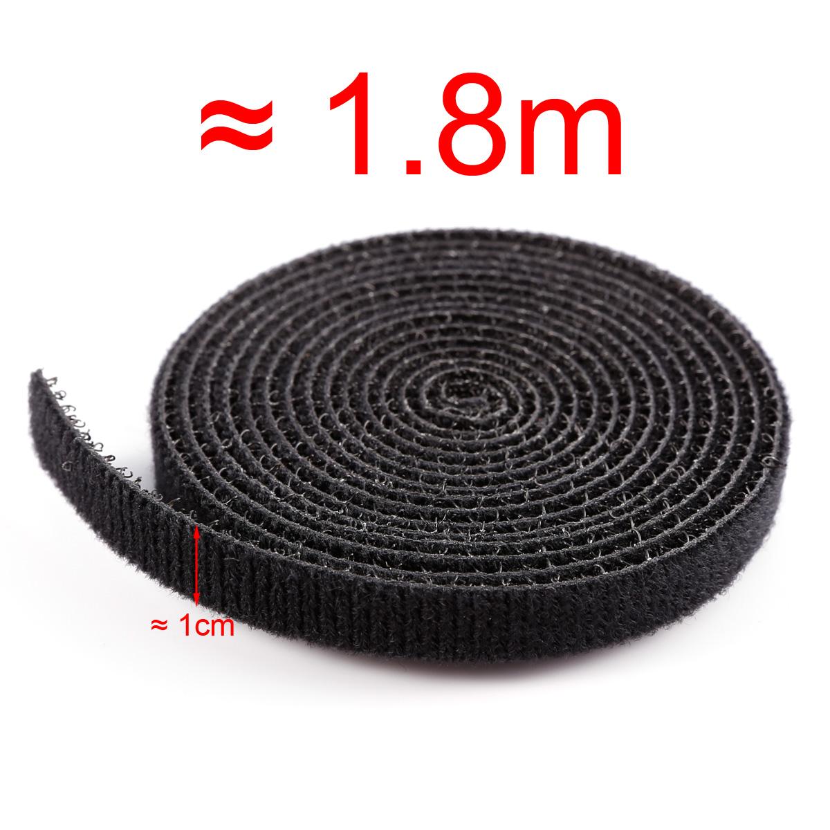 1.8M Klett Klettband Klettverschluss beidseitig Kabelbinder breite ...