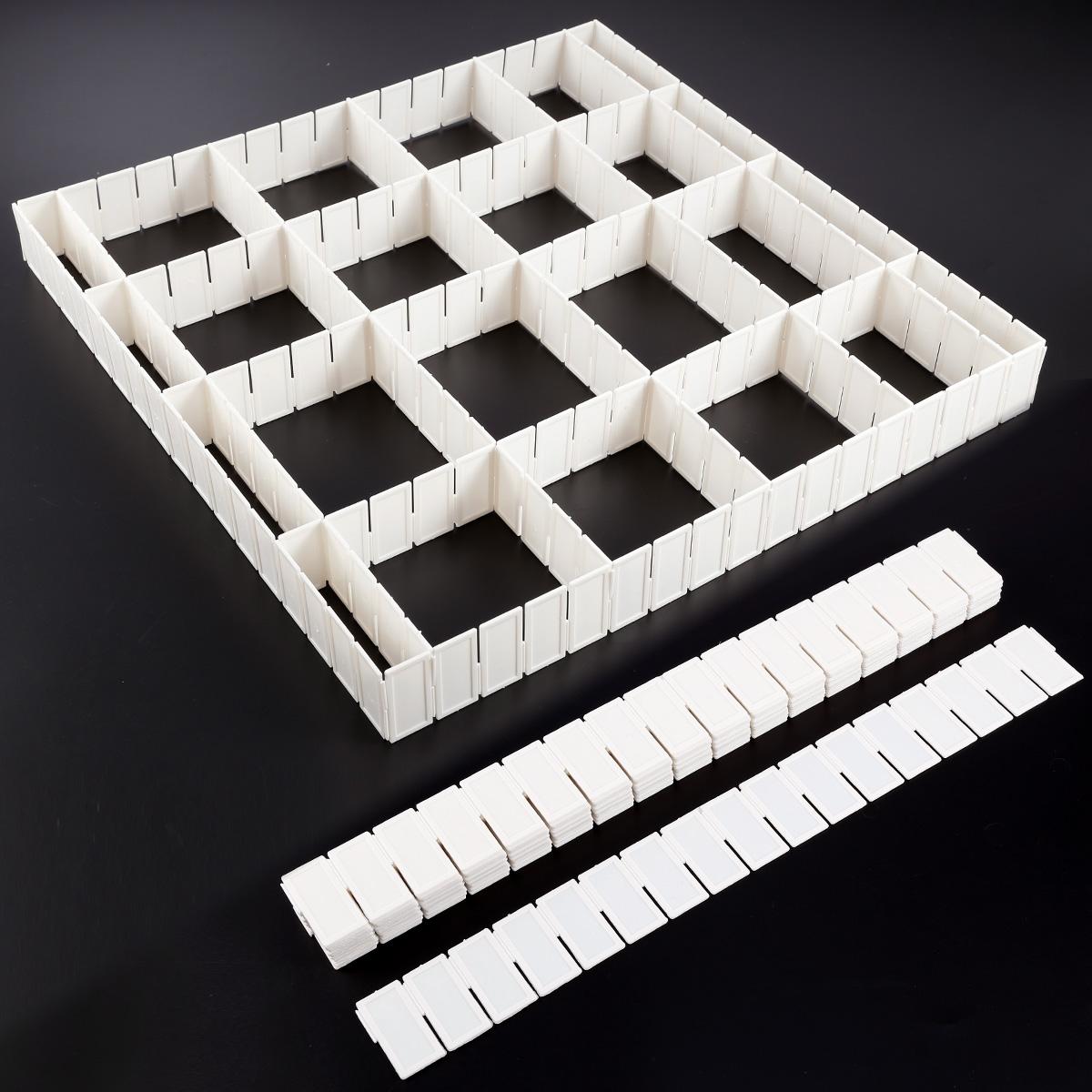 12 24 x schubladenteiler fachteiler zuschneidbar schubladentrenner organizer ebay. Black Bedroom Furniture Sets. Home Design Ideas