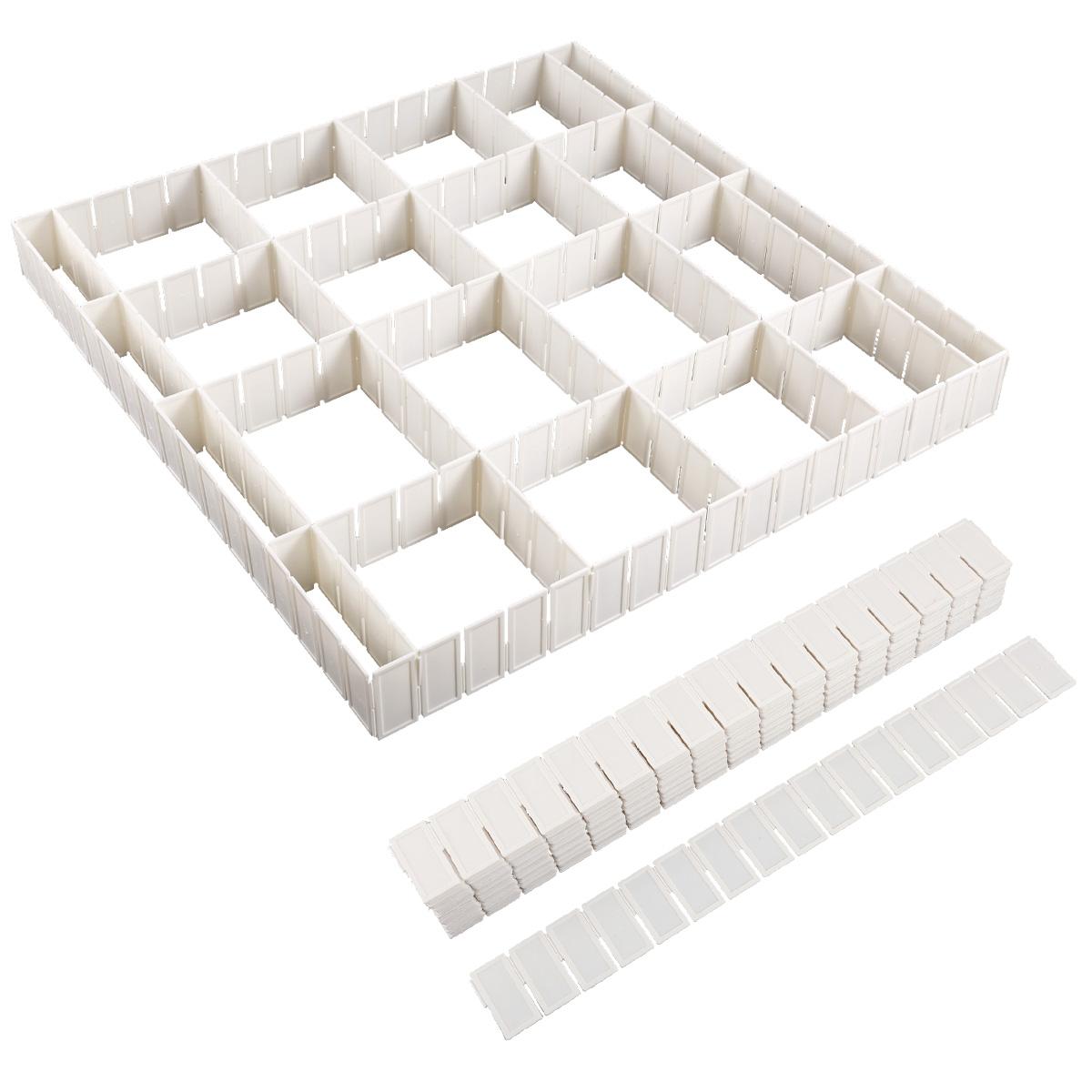 12 24x adjustable diy grid clapboard divider drawer closet. Black Bedroom Furniture Sets. Home Design Ideas