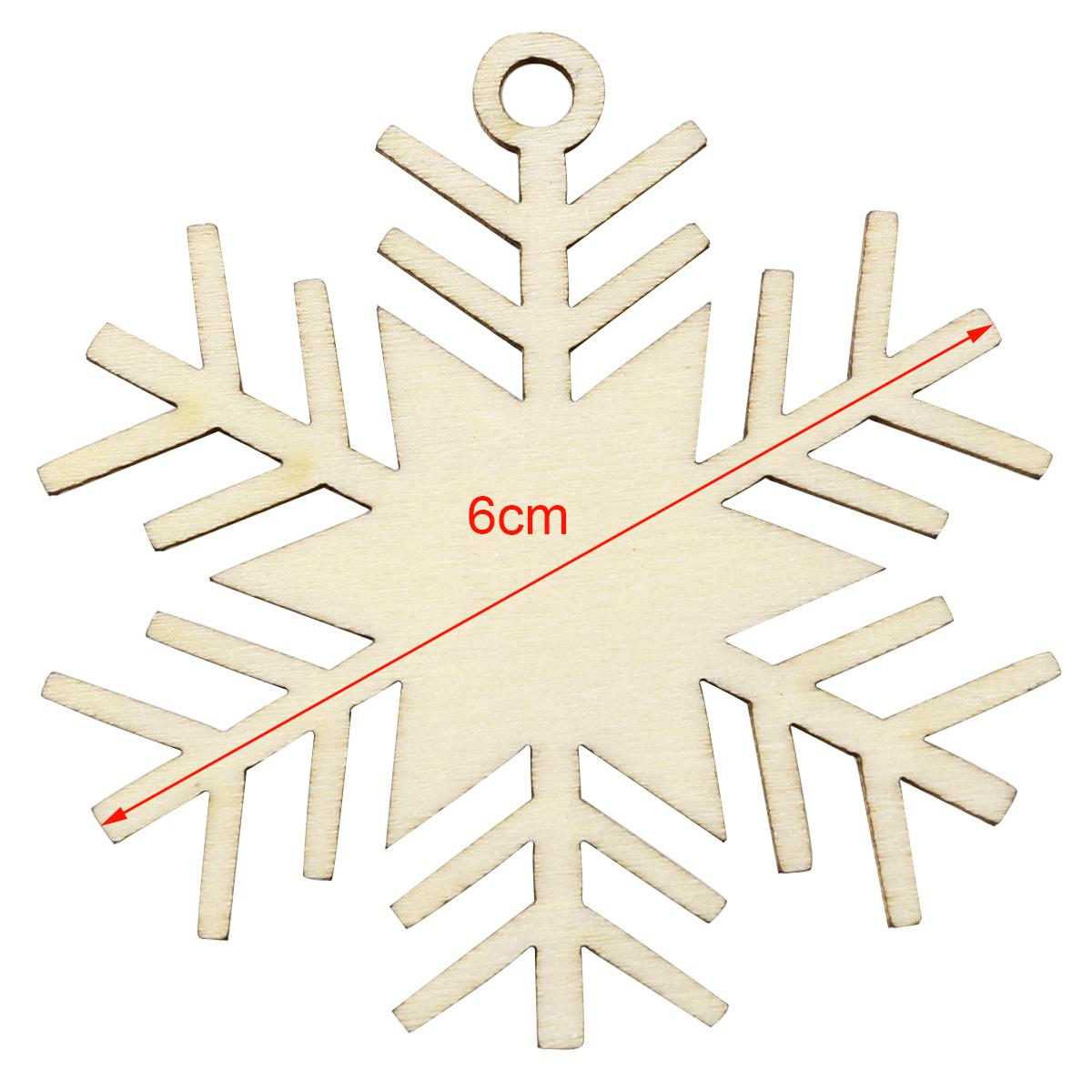 40 x 6cm Holz Anhänger Hänge-Etiketten Weihnachten ...