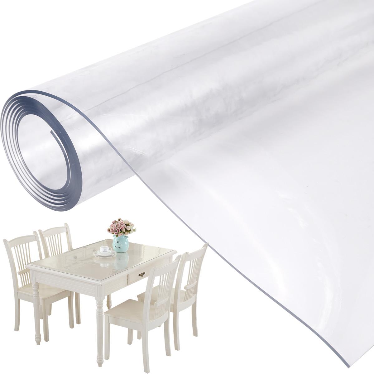 tischdecke tischmatte tischfolie tischschutz folie 2mm transparent glasklar ebay. Black Bedroom Furniture Sets. Home Design Ideas