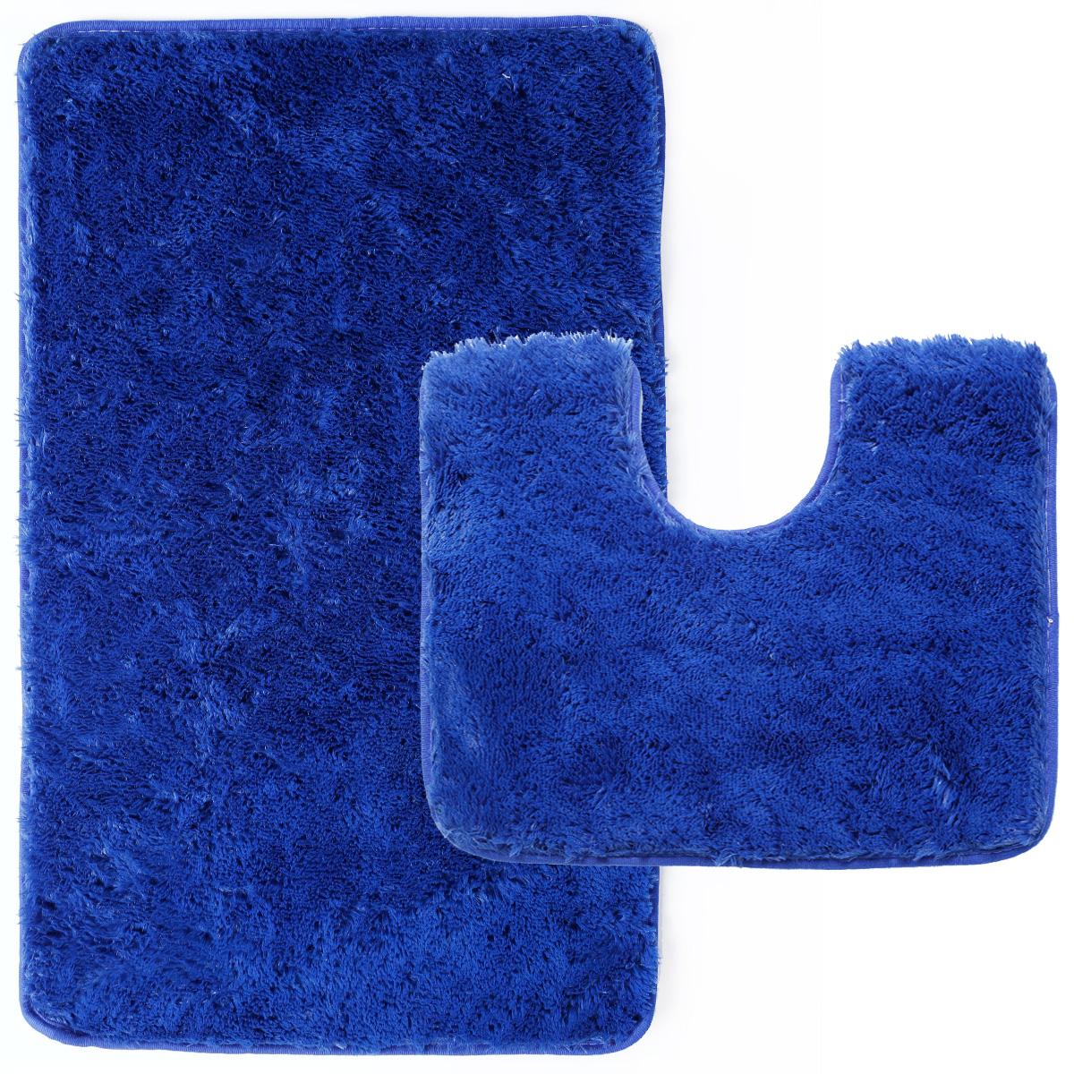 Badvorleger Set badteppich 2 teilig blau badematte badvorleger badgarnitur duschvorleger set ebay