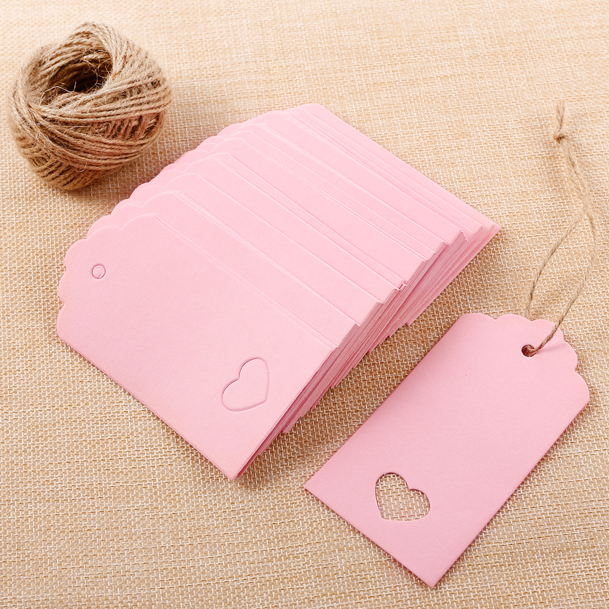 100x Rectangle Blank Hanging Card Gift Tag Lable Price Wedding Favor ...